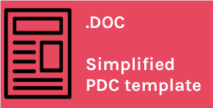 PDC simplified template